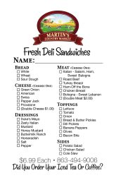 Sandwich Order Form 6.28.18